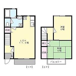 [テラスハウス] 神奈川県川崎市麻生区栗木台1丁目 の賃貸【/】の間取り