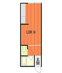 ライフステージ広瀬倉梯[203号室]の間取り