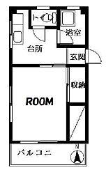 埼玉県戸田市美女木2丁目の賃貸アパートの間取り