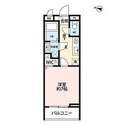 東武野田線 北大宮駅 徒歩2分の賃貸アパート 3階1Kの間取り