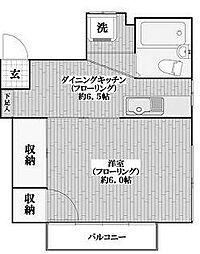 東京都新宿区市谷山伏町の賃貸アパートの間取り