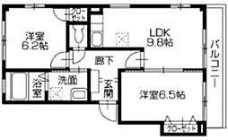 フォブール西泉[2階]の間取り