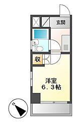 シングルハイツ新栄[6階]の間取り