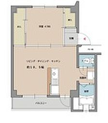 ビレッジハウス姪浜3号棟[2階]の間取り