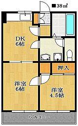 パレ・ドール小川[203号室]の間取り