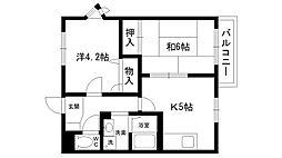 サンシャイン夙川[201号室]の間取り