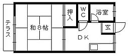 コーポさくら[101号室]の間取り