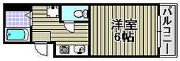 KIXマンション[301号室]の間取り