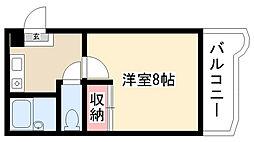 愛知県名古屋市昭和区折戸町2丁目の賃貸マンションの間取り