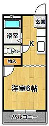 豊コーポ[210号室]の間取り