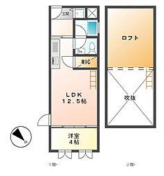 シュタットメゾン新栄[4階]の間取り