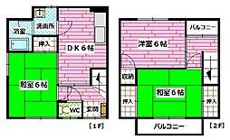 [テラスハウス] 広島県広島市安芸区矢野西1丁目 の賃貸【/】の間取り