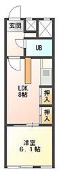 恋ヶ窪378レジデンス[1階]の間取り
