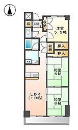 アベニューイン富士[2階]の間取り