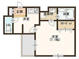 JR大阪環状線 玉造駅 徒歩8分の賃貸マンション 3階1Kの間取り
