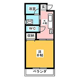 グリーンコーポヨシダ[2階]の間取り