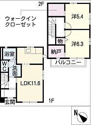[タウンハウス] 三重県松阪市茶与町 の賃貸【三重県 / 松阪市】の間取り
