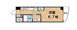 セレニテ本町ルフレ 15階1Kの間取り