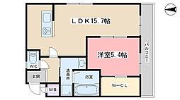 仮称)西野小柳町WAP[206号室]の間取り