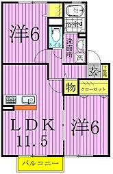 クレセントII・III[2階]の間取り