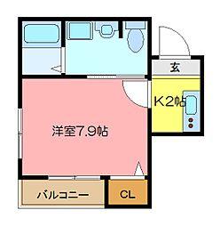 M&H杉田[201号室]の間取り