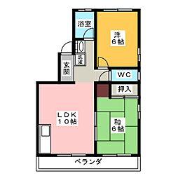 さくらコーポ[4階]の間取り