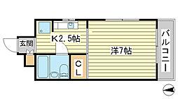 O-4マンション[501号室]の間取り
