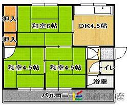 神埼アパートB[201号室]の間取り