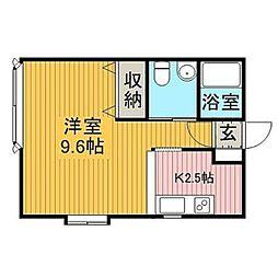 パーソナル3[2階]の間取り