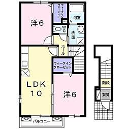 シュトラント感田B[2階]の間取り