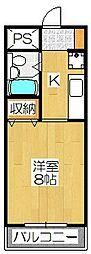 セゾン桃山[402号室]の間取り