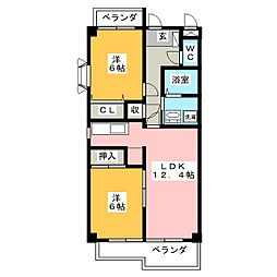 MSコーポ[1階]の間取り