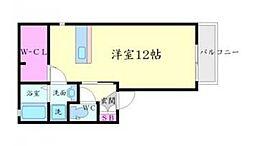 シルクコート[2階]の間取り