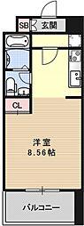 プラネシア京阪出町柳[214号室号室]の間取り