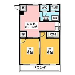 エミナンス岳見[3階]の間取り
