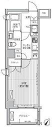 東京メトロ千代田線 赤坂駅 徒歩6分の賃貸マンション 2階1Kの間取り