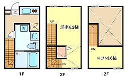 仙台市営南北線 泉中央駅 徒歩14分の賃貸アパート 1階1Kの間取り