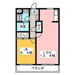 大島マンション5[3階]の間取り