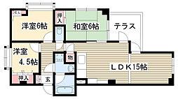 カーサ小井堀[201号室]の間取り
