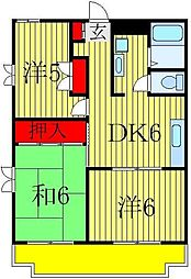 うぉーたーみる船橋NO.1[3階]の間取り