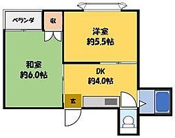 藤田ハイツ[2階]の間取り