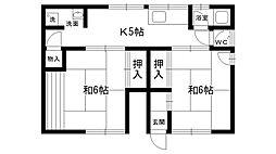 [一戸建] 兵庫県西宮市日野町 の賃貸【/】の間取り