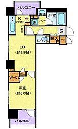 京王線 府中駅 徒歩6分の賃貸マンション 3階1LDKの間取り