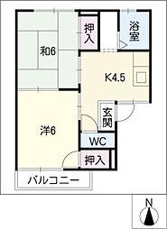 タウニー川島[1階]の間取り