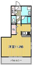 神奈川県川崎市中原区下新城2丁目の賃貸マンションの間取り