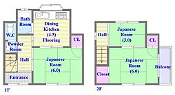 [一戸建] 兵庫県神戸市垂水区東垂水3丁目 の賃貸【/】の間取り