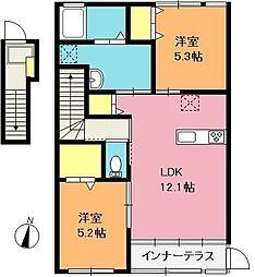 [タウンハウス] 埼玉県上尾市小泉8丁目 の賃貸【/】の間取り