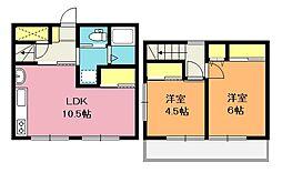 [テラスハウス] 埼玉県鴻巣市原馬室 の賃貸【/】の間取り