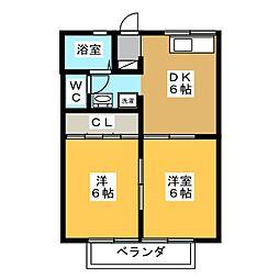ハイユニメント大塚[2階]の間取り