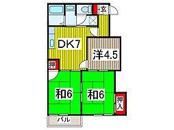 グランエクレ−ル[2階]の間取り